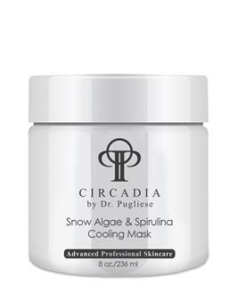 Охлаждающая маска из водорослей Спирулина для лица  / Circadia / набор с семплами